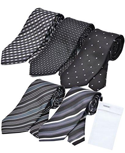 ビジネスマンサポート 洗えるネクタイ 5本セット 洗濯ネット付き p-g1h1k1m1n1