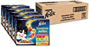 Felix Sensations Jellies - Favourites Menu, Adult and Senior, 60x85g