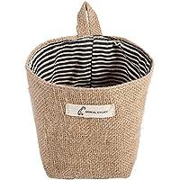 Asixx 貯蔵袋 コットンリネンバッグ 収納ボックス 収納箱 ストレージバスケット 綿麻製 軽量 かわいい おしゃれ 6種類(#1)