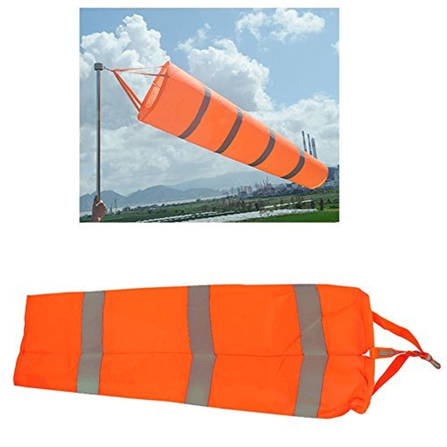 Airport WindsockWind Cone 80cm Long Outside Wind Sock Windsock Outdoor Wind Sock Bag with Reflective Belt [並行輸入品]