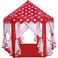 fdegage Princess Castle Play TentクリスマスギフトHexagon Folding Pop Up Kids Playhouse with Carryバッグ