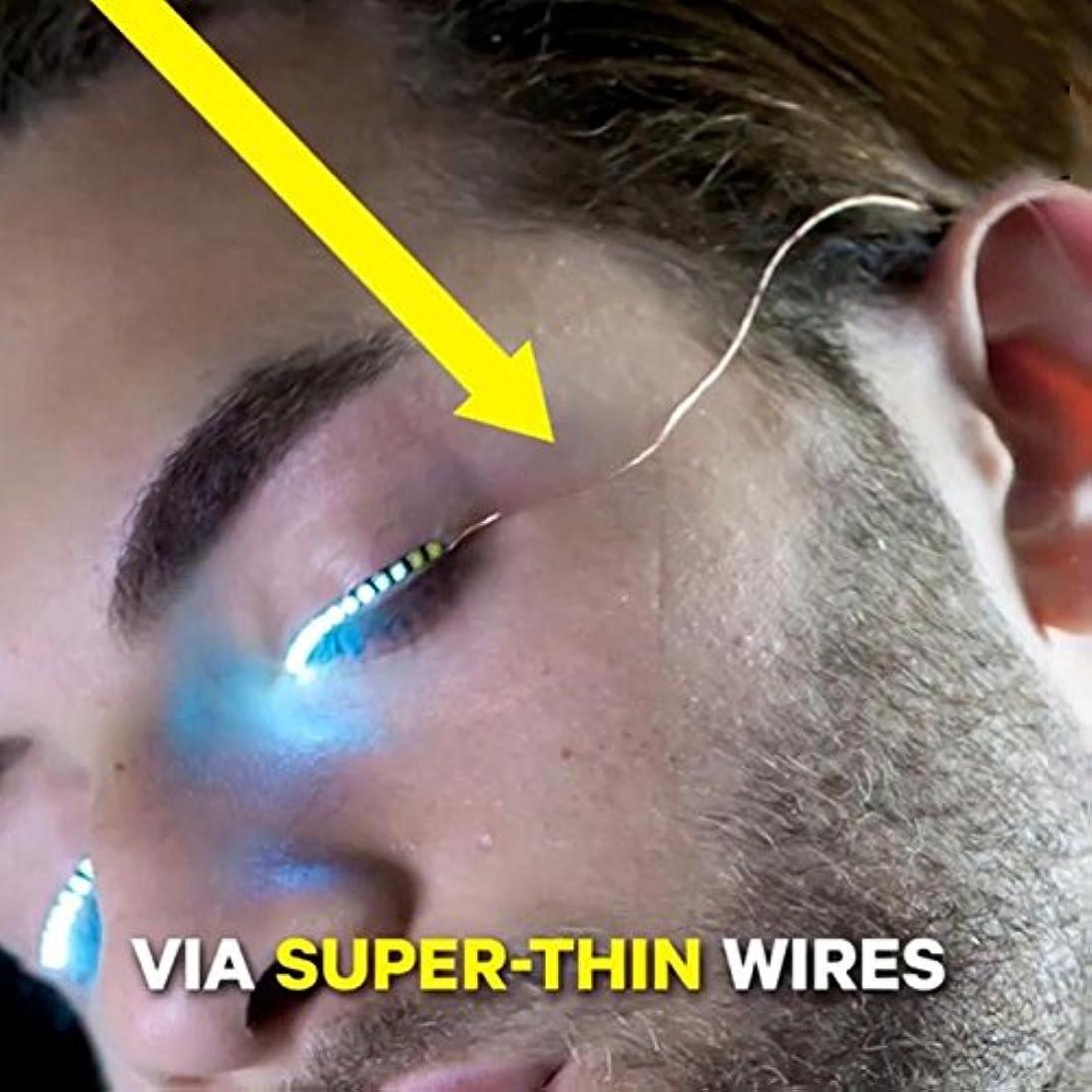 報告書気づかないピストルHongch 2PCSつけまつげは、ルミナスのLED 毎日のためのファッションのプロフェッショナル 防水輝きます メイクアップツール
