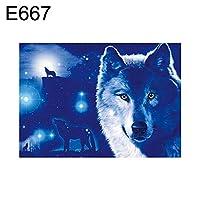 goupgolboll-30×40センチメートル動物ウルフクロスステッチクラフトdiyモザイクフルラウンドダイヤモンド絵画 - E667