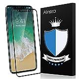 iPhone 8 フィルム Alinsea iPhone 8 ガラスフィルム 3D 液晶保護 強化ガラス 曲面デザイン 3Dラウンドエッジ加工 飛散防止 気泡レス 防指紋 耐衝撃 光沢 撥水・防水 硬度9H iPhone X Edition (iPhone 8, ブラック)