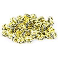 (KEEP YOU) 平ロンデル ブラックダイヤモンド/BK_DIAMOND 5mm 6mm 7mm 8mm ハンドメイドアクセサリーパーツ