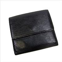 ルイヴィトン Louis Vuitton Wホック財布 ユニセックス ポルトモネビエカルトクレディ M63482 エピ 中古 Y017
