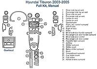 Hyundai Tiburon完全ダッシュトリムキット、手動 ブラウン SKU1408-Honey Burlwood