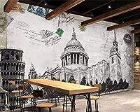 Weaeo カスタム壁紙イギリススタイルの建築壁画の壁の壁の家の飾りリビングルームベッドルームの3D壁紙-120X100Cm