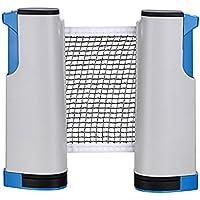 Toudorp ポータブル 卓球ネット 開閉式 卓球用品 ロール 伸縮タイプ 自宅 アウトドア