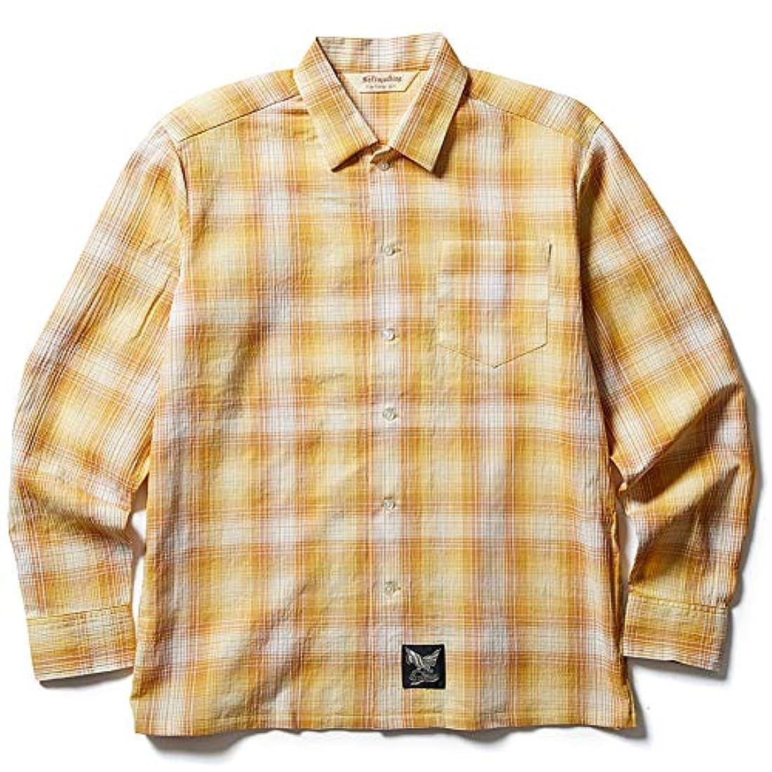 流暢個人市の花Softmachine ソフトマシーン 【VANISH SHIRTS】 Yellow Lsize 長袖シャツ ソフトマシン