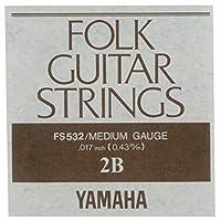 YAMAHA FS532 アコースティックギター用 バラ弦 2弦×6本