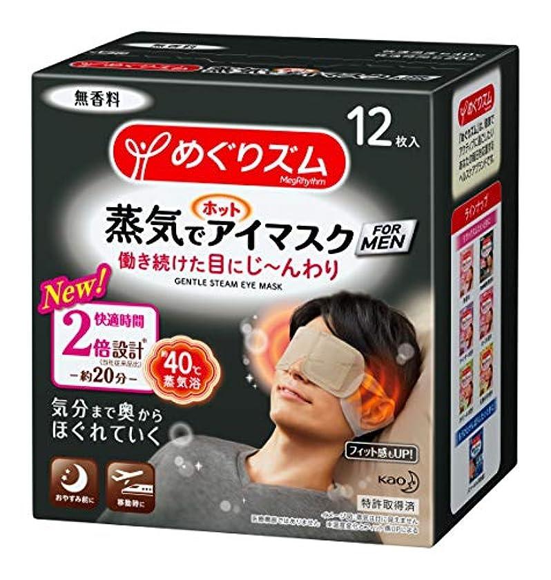 火炎運命的なラグめぐりズム蒸気でホットアイマスク FOR MEN 12枚入