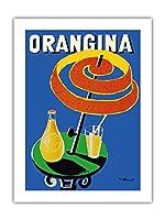 オランギナ - サンシェード広告 - ビンテージな広告ポスター によって作成された ベルナール・ヴィユモ c.1984 -プレミアム290gsmジークレーアートプリント - 46cm x 61cm