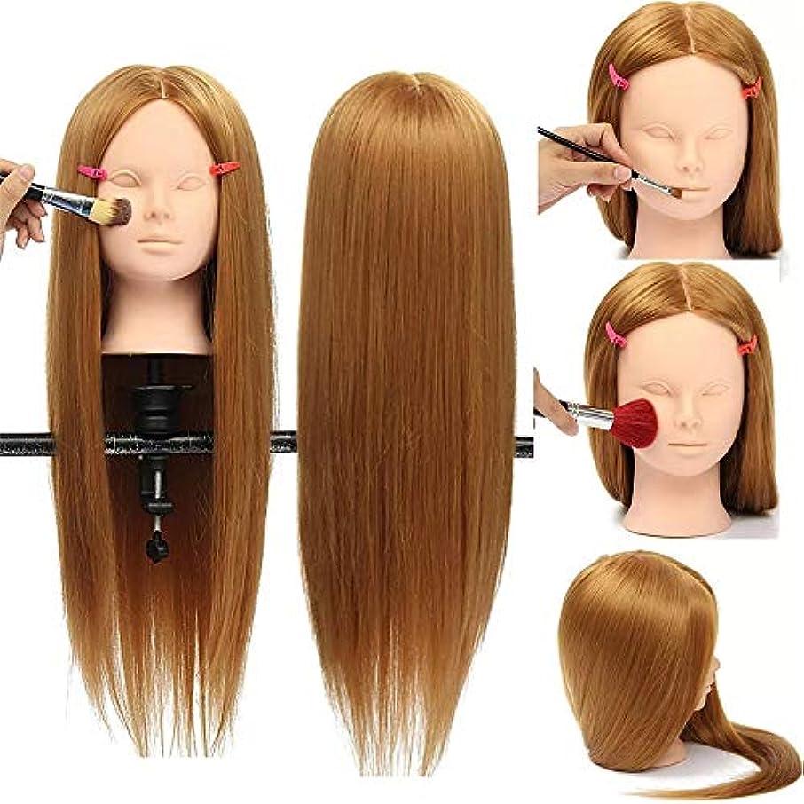 まろやかなスリッパチーフマネキンヘッド 高温繊維30%本物の人間の髪の毛26