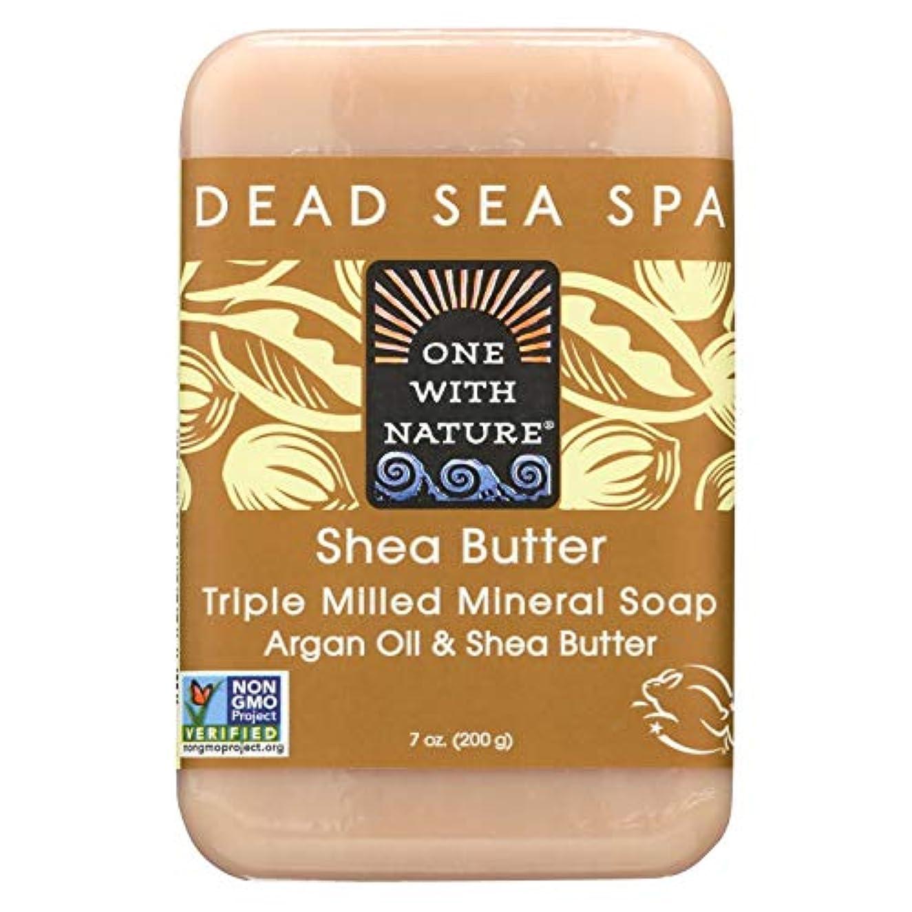 仕事ナチュラル二層Dead Sea Mineral Shea Butter Soap - 7 oz by One With Nature