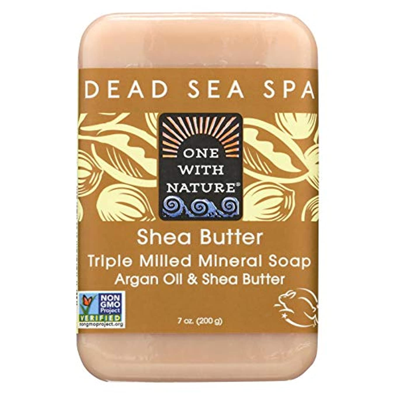 子羊簡略化する不注意Dead Sea Mineral Shea Butter Soap - 7 oz by One With Nature