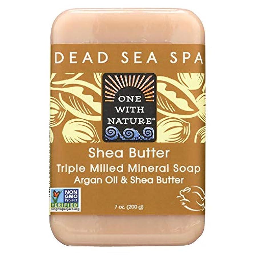 セラー早熟優先権Dead Sea Mineral Shea Butter Soap - 7 oz by One With Nature