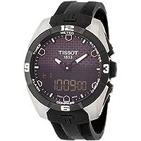 [ティソ] TISSOT 腕時計 Tータッチ エキスパート ソーラー タッチセンサー付き ブラック文字盤 ラバー T0914204705100 メンズ 【正規輸入品】