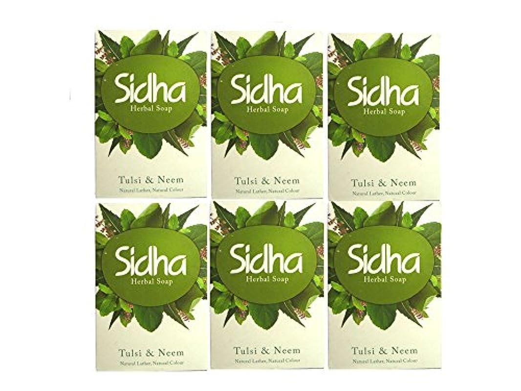 シャックルロマンス塊SIHDH Herbal Soap Tulsi & Neem シダー ハ-バル ソープ 75g 6個セット