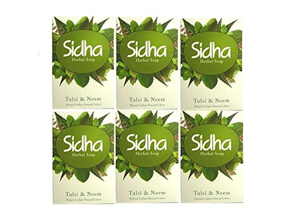 継続中主導権移植SIHDH Herbal Soap Tulsi & Neem シダー ハ-バル ソープ 75g 6個セット