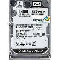 Western Digital (WD) ブラック 320 GB (320gb) モバイルハードドライブ: 2.5インチ、7200 RPM、SATA II、16 MB キャッシュ- ノートパソコン、Mac、PC、PS3用