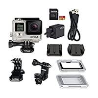 GoPro HD Hero4 Silver Action Camcorder with Dual Battery Charger and 16GB MicroSD Card(米国並行輸入品)