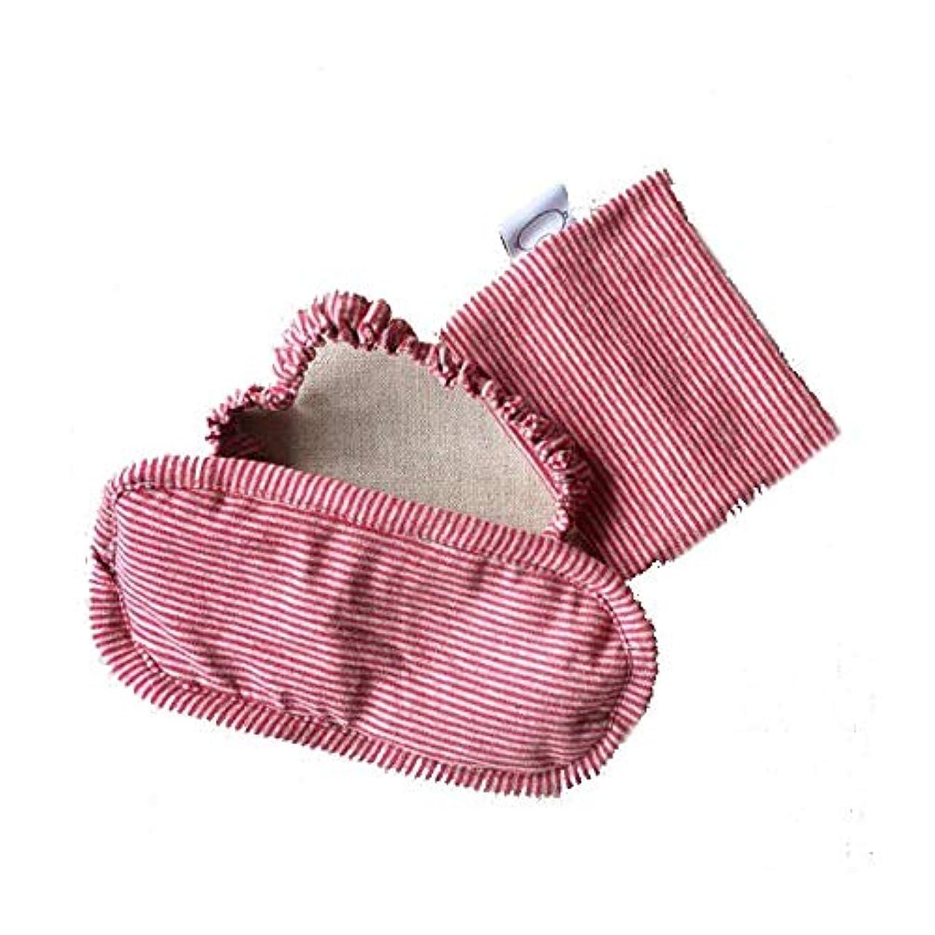禁じる犠牲麺HUICHEN ゴーグルアイシェード通気性の綿厚い綿の睡眠ゴーグル睡眠ランチ (Color : Pink)