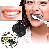 100% 天然歯美白パウダー白マスター歯天然有機活性炭竹歯磨き粉ドロップ無料
