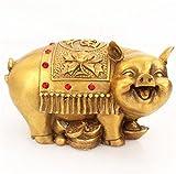 風水グッズ 銅製 金運祈願の豚 風水 置物 開運祈願 金色 金のぶた 金の豚 開運祈願グッズ 飾り物