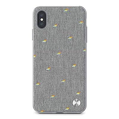 moshi Vesta for iPhone XS Max (Gray) ケース Le Maraisコレクション メタルフレーム 米軍MIL規格 ワイヤレス充電対応