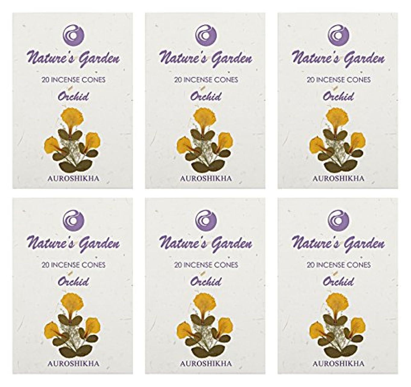 カスタムパッチ知恵Auroshikha Nature 's Garden Orchid Incense Cones、120 – セットof 6