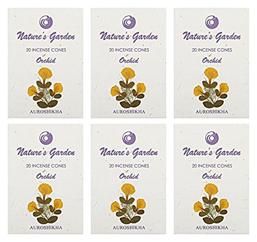 アクロバット汚染された章Auroshikha Nature 's Garden Orchid Incense Cones、120 – セットof 6