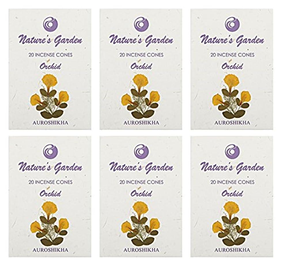 発送ドキュメンタリービーズAuroshikha Nature 's Garden Orchid Incense Cones、120 – セットof 6