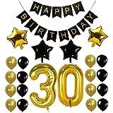 Funpa 風船 バルーン ガーランド 23点セット 誕生日 お祝い パーティー デコレーション 掛け飾り ktv ディスコ バー アルミ箔 (30歳)