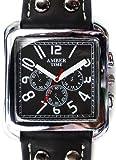 ソリッドsolid レディース 腕時計 かっこいい デザイン ウォッチ スクエアフェイス 合皮 合革 ベルト プレゼントにも ビジネス 見やすい 文字盤 ブラック 黒solid-vvtvs289-men mlp