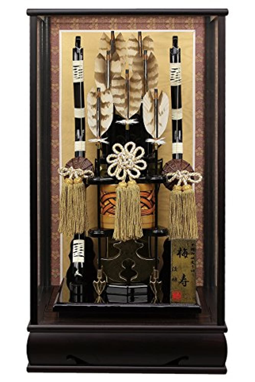 破魔弓 ケース飾り 黒檀 梅寿 13号 かぶせケース 面取ガラス h301-fz-1212-13-480