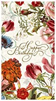 Michel Design Works 15Count用紙Hostessナプキン、4.375by 7.875-inch、Happy誕生日