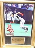 BBM 阪神タイガース 赤星憲広 額入り 写真 2007 ベースボールマガジン社