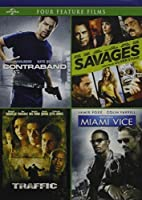 4 Drug Crime Movies: Contraband/Savages / Traffic/Miami Vice - 4 Films Dealing with Narcotic Crime by Jamie Foxx [並行輸入品]