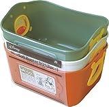 錦化成 収納ケース くまのプーさん ミニやわらかバケツ 3色セット(ダークオレンジ/オリーブグリーン/ベージュ)