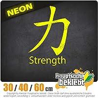Strength - 3つのサイズで利用できます 15色 - ネオン+クロム! ステッカービニールオートバイ