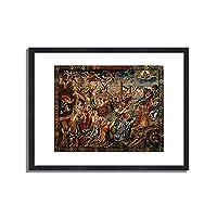 Tapisserie,Brussel um 1530「Allegorie der Hoffnung.」インテリア アート 絵画 プリント 額装作品 フレーム:木製(黒) サイズ:XL (563mm X 745mm)