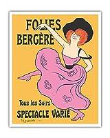 フォーリー・ベルジェール - パリ、フランス - 毎晩様々なショー - によって作成された リオネト・カピエロ c.1900 - アートポスター - 41cm x 51cm