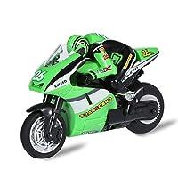 RC 2.4GHz バイク リモートコントロール モデル車 ラジコン 激走 USB充電 おもちゃ 子供 少年 クリスマスギフト 眩しいカラー 2タイプ(グリーン)