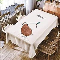 YUEHAO テーブルクロス テーブルカバー ポリエステル かわいい 動物柄 あっさり インテリア用品 多用途 耐熱 防油 厚手 家庭 全3色選べる