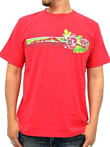 (ピコ) PIKO ハイビスカス Tシャツ メンズ 半袖 M レッド