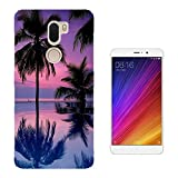 c01218 - Sunset Palm Three Sea View Design Xiaomi Mi 5s Plus 5.7
