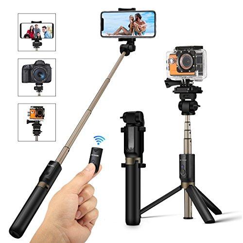 BlitzWolf 自撮り棒 セルカ棒 Goproカメラ/iPhone/Android対応 三脚 拡張可能 360°回転 iPhone X/8/7/7plus/6s/6/5s/Android Samsung 3.5-6インチのスマホも対応 日本語説明書付き