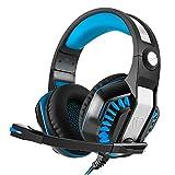 Beexcellent GM-2 高音質 ゲーミングヘッドセット ps4 ヘッドホン ゲーム用 pc スマホ等に対応 騒音抑制 LEDライト付き(ブルー)