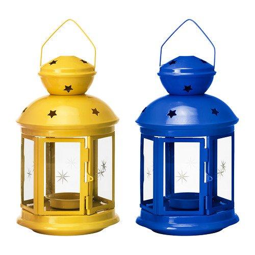 RoomClip商品情報 - IKEA ROTERA ティーライト用ランタン 21cm ブルー&イエローセット 20258013